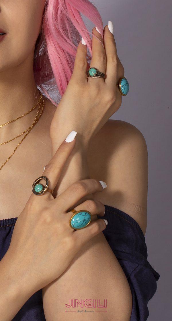انگشتر زنانه فیروزه