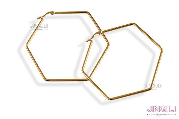 گوشواره زنانه شش ضلعی