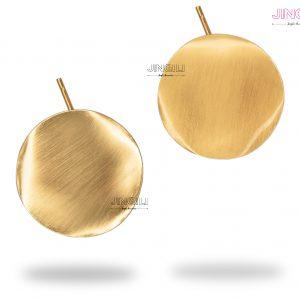 گوشواره زنانه گرد طلایی