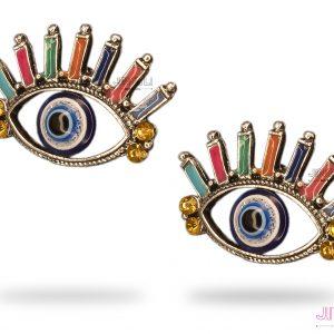 گوشواره زنانه مدل چشم و نظر